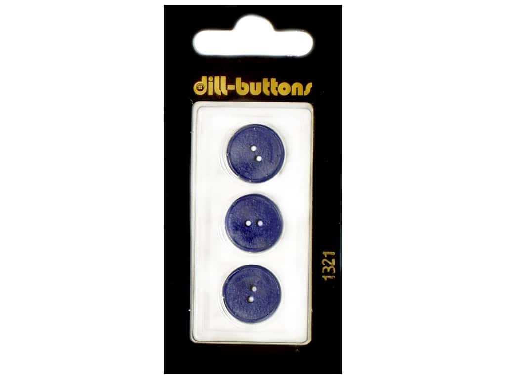 Dill 2 Hole Buttons 5/8 in. Royal Blue #1321 3 pc.