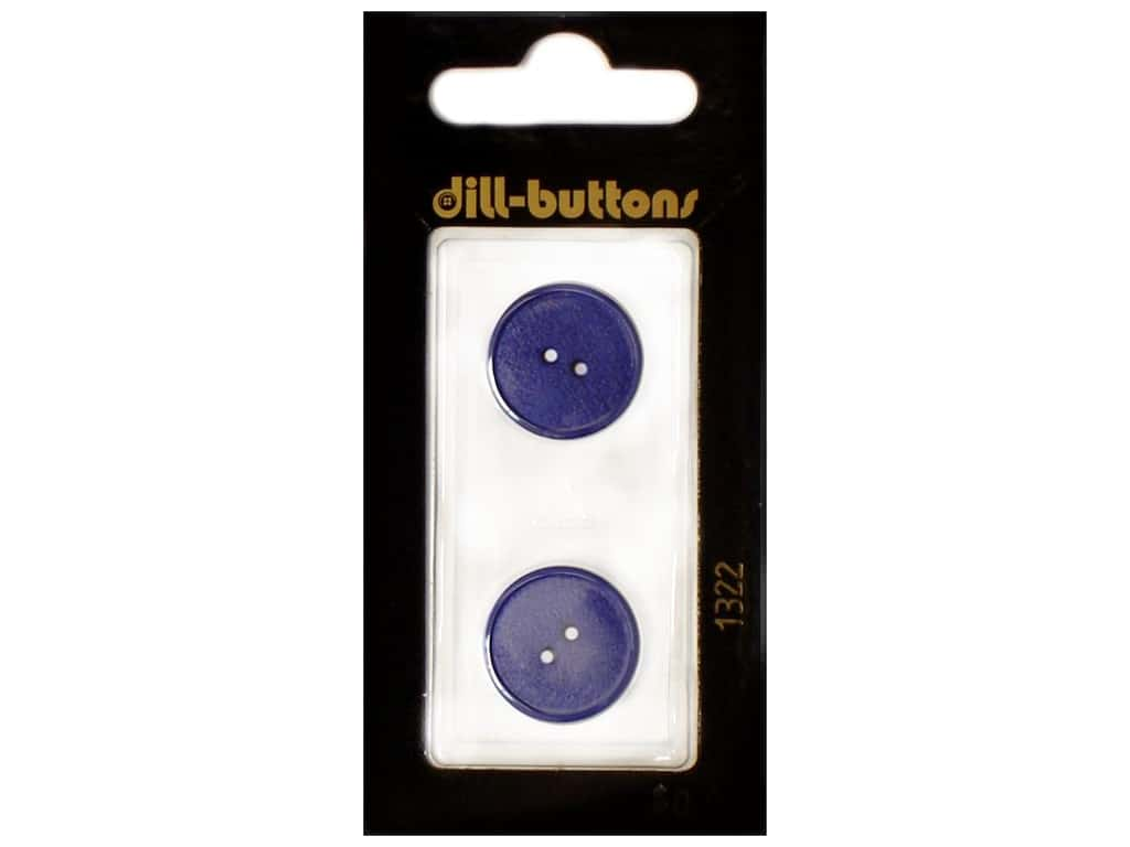 Dill 2 Hole Buttons 11/16 in. Royal Blue #1322 2 pc.