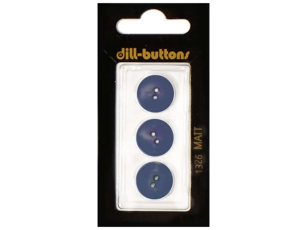 Dill 2 Hole Buttons 5/8 in. Royal Blue #1326 3 pc.