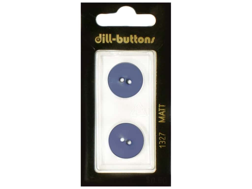 Dill 2 Hole Buttons 11/16 in. Royal Blue #1327 2 pc.