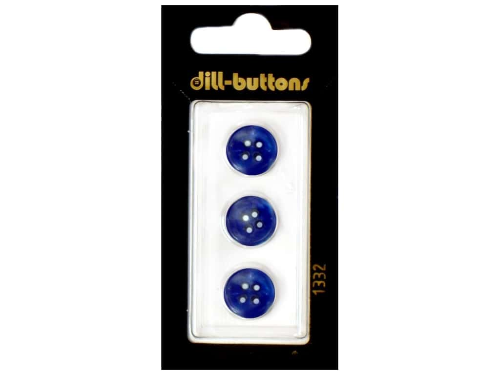 Dill 4 Hole Buttons 1/2 in. Navy #1332 3 pc.