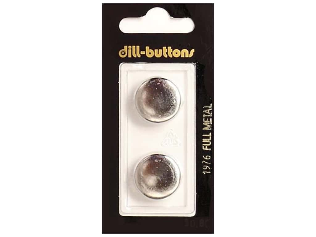 Dill Shank Buttons 11/16 in. Silver Metal #1976 2 pc.