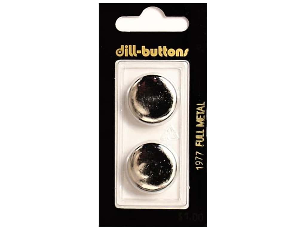 Dill Shank Buttons 13/16 in. Silver Metal #1977 2 pc.