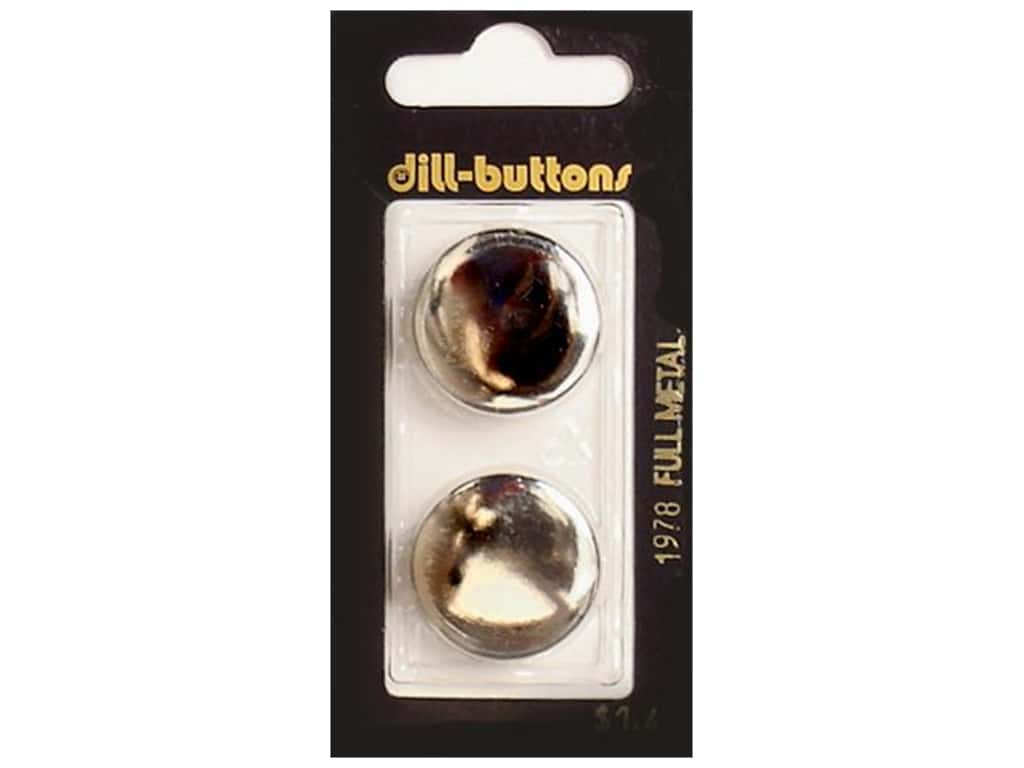 Dill Shank Buttons 7/8 in. Silver Metal #1978 2 pc.
