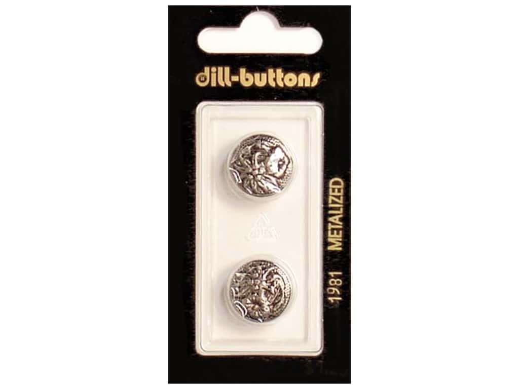 Dill Shank Buttons 5/8 in. Antique Silver #1981 2 pc.