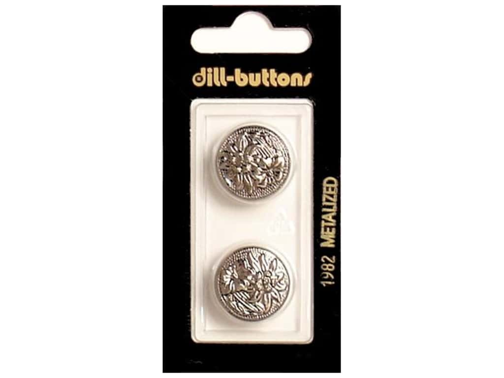 Dill Shank Buttons 3/4 in. Antique Silver #1982 2 pc.