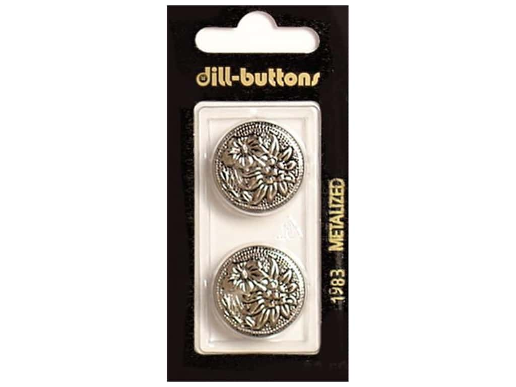 Dill Shank Buttons 7/8 in. Antique Silver #1983 2 pc.