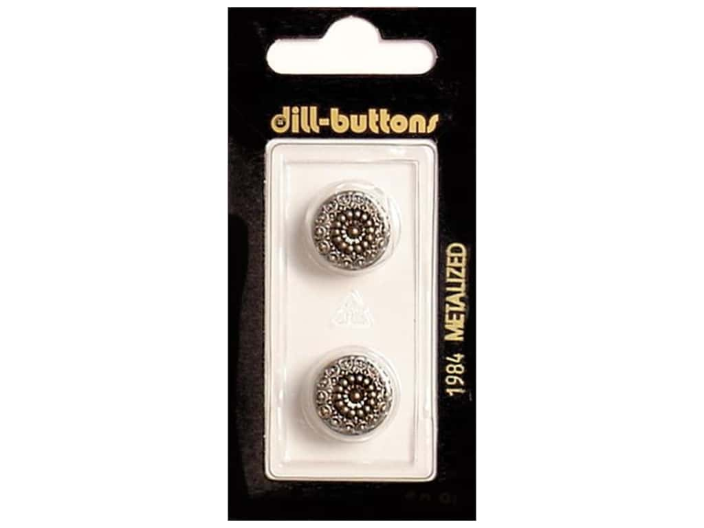 Dill Shank Buttons 9/16 in. Antique Silver #1984 2 pc.