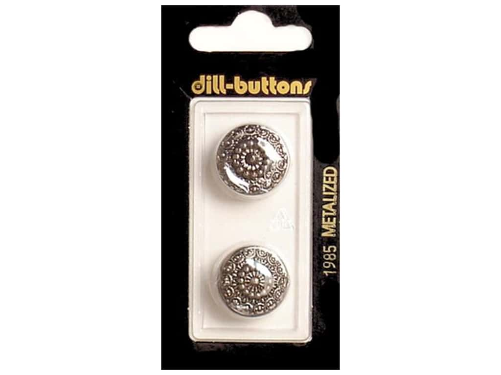 Dill Shank Buttons 11/16 in. Antique Silver #1985 2 pc.