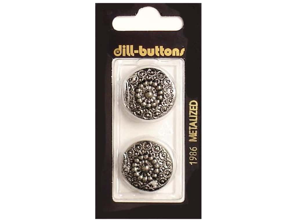 Dill Shank Buttons 7/8 in. Antique Silver #1986 2 pc.