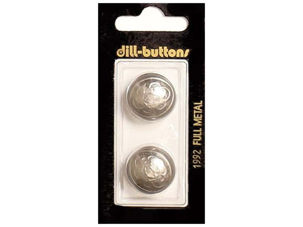 Dill Shank Buttons 13/16 in. Dull Silver Metal #1992 2 pc.