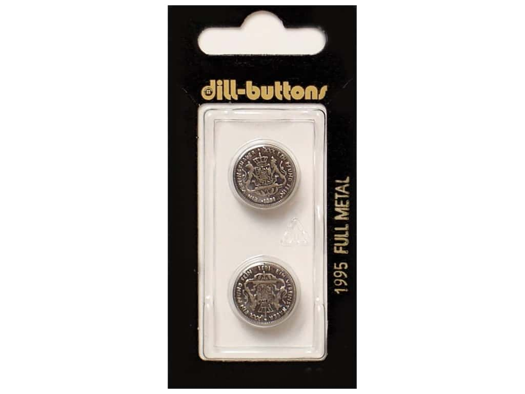 Dill Shank Buttons 5/8 in. Antique Silver Metal#1995 2 pc.