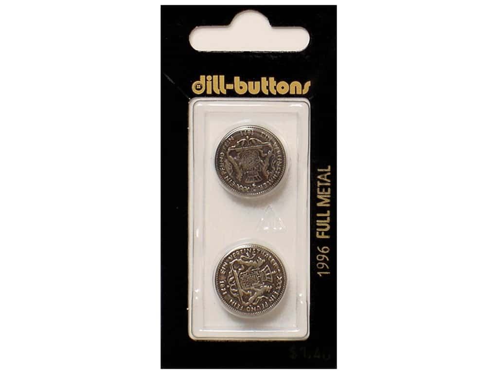 Dill Shank Buttons 11/16 in. Antique Silver Metal #1966 2 pc.