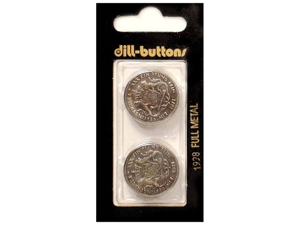 Dill Shank Buttons 7/8 in. Antique Silver Metal #1998 2 pc.
