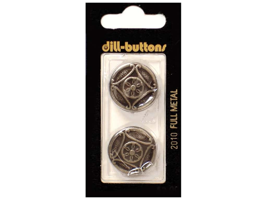 Dill Shank Buttons 7/8 in.  Antique Tin Metal #2010 2 pc.
