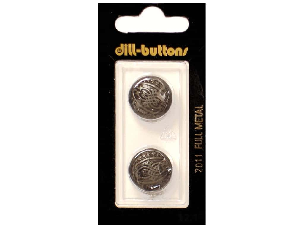 Dill Shank Buttons 11/16 in. Antique Tin Metal #2011 2 pc.