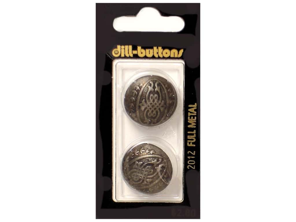 Dill Shank Buttons 7/8 in.  Antique Tin Metal 2 pc.