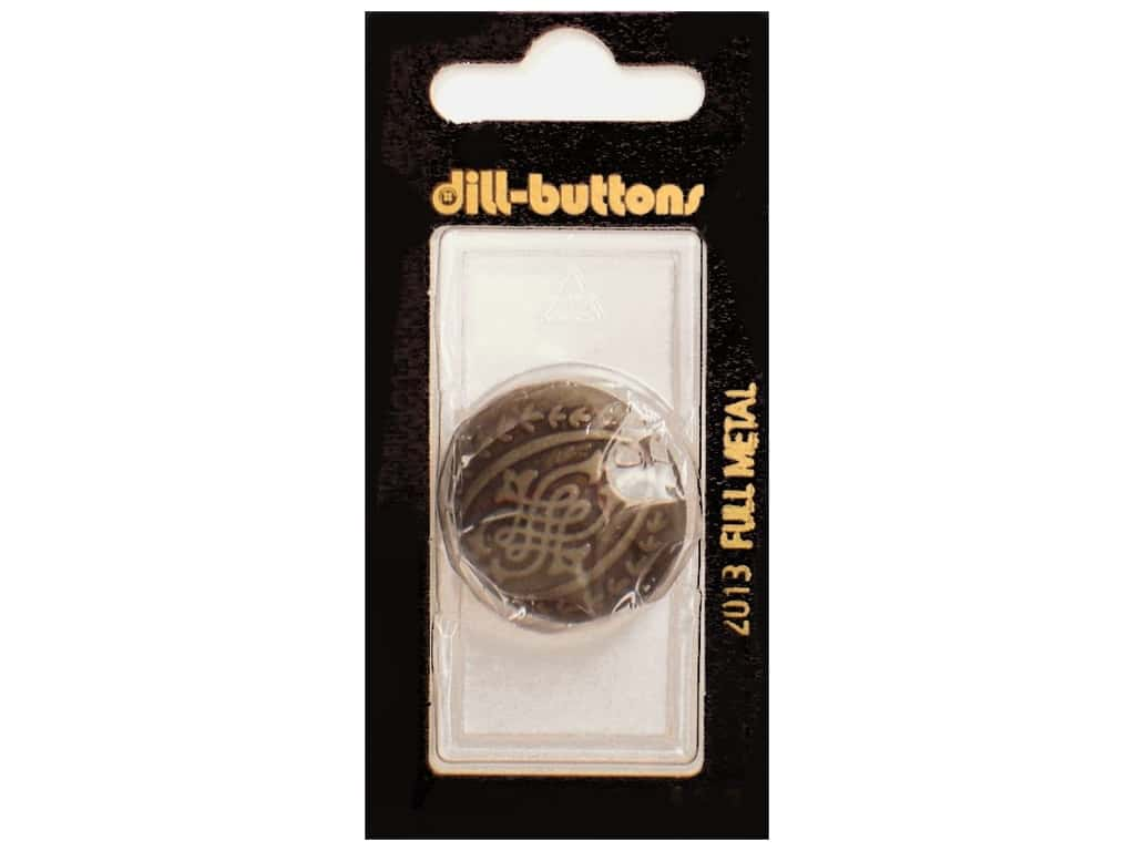 Dill Shank Buttons 1 1/8 in. Antique Tin Metal #2013 1 pc.