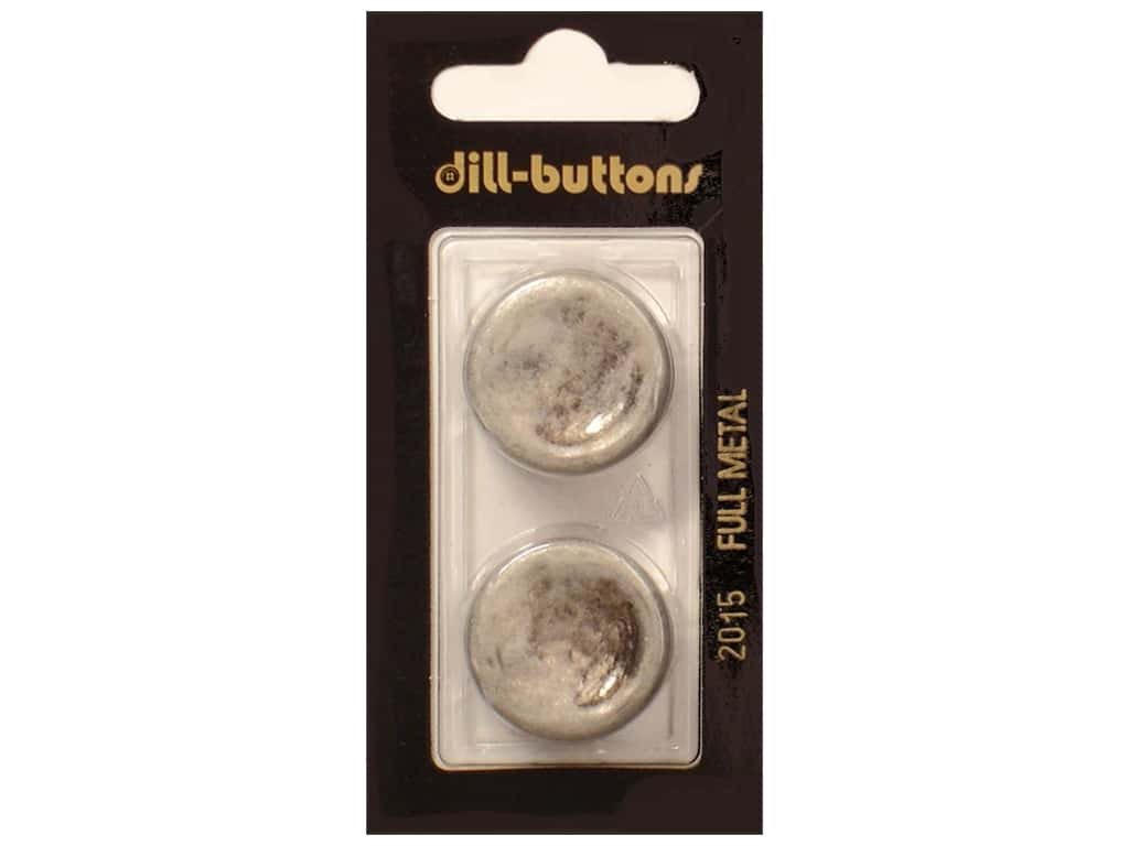 Dill Shank Buttons 7/8 in. Antique Tin Metal #2015 2 pc.