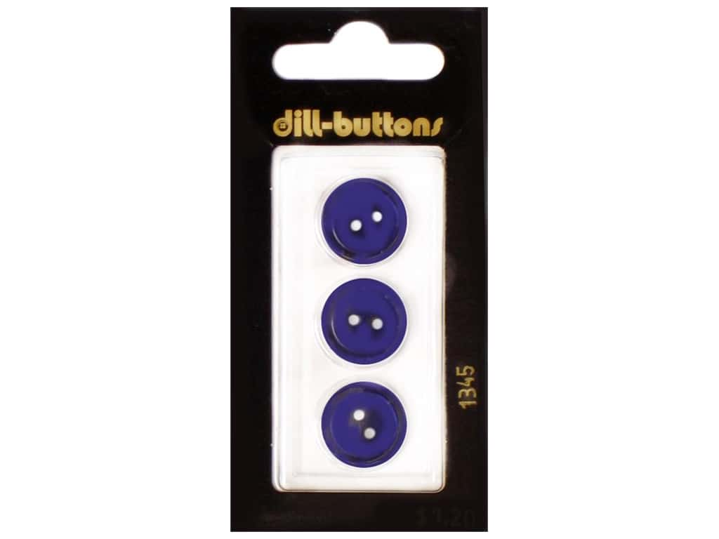 Dill 2 Hole Buttons 5/8 in. Navy #1345 3 pc.