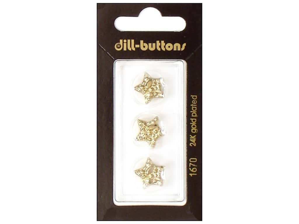 Dill Shank Buttons 9/16 in. Gold Star #1670 3 pc.