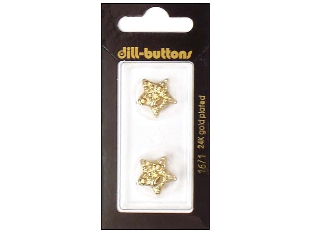 Dill Shank Buttons 11/16 in. Gold Star #1671 2 pc.