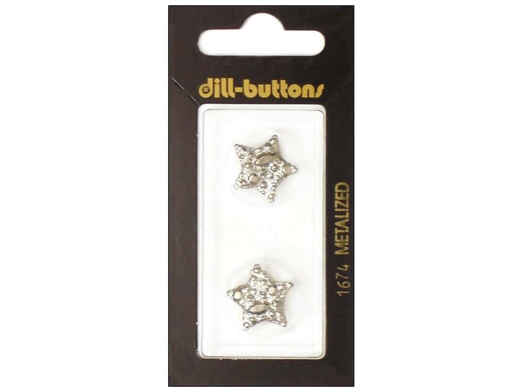 Dill Shank Buttons 11/16 in. Silver Star #1674 2 pc.