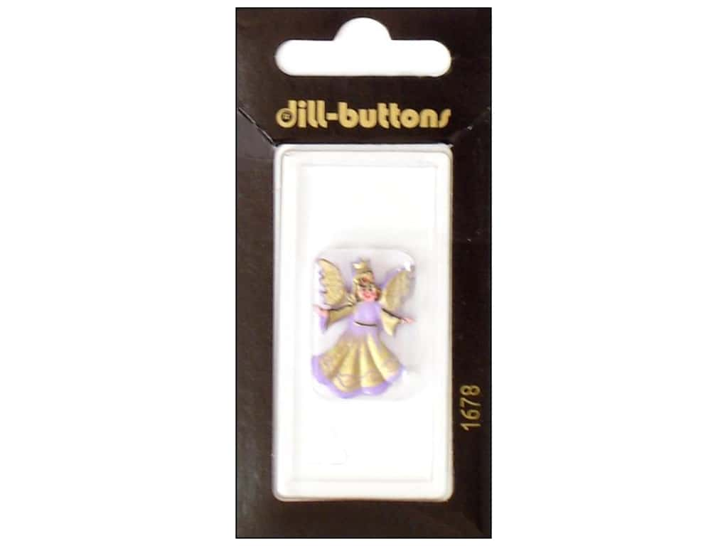 Dill Shank Buttons 1 in. Lilac Angel #1678 1 pc.