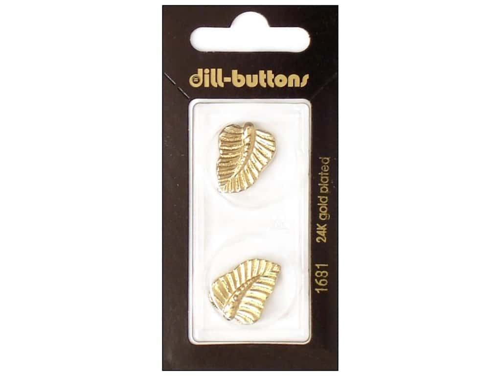 Dill Shank Buttons 13/16 in. Gold Leaf #1681 2 pc.