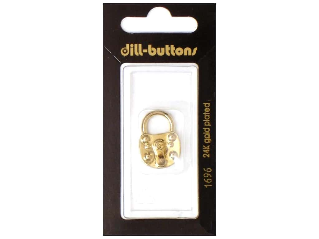 Dill Shank Buttons 7/8 in. Gold Lock #1696 1 pc.
