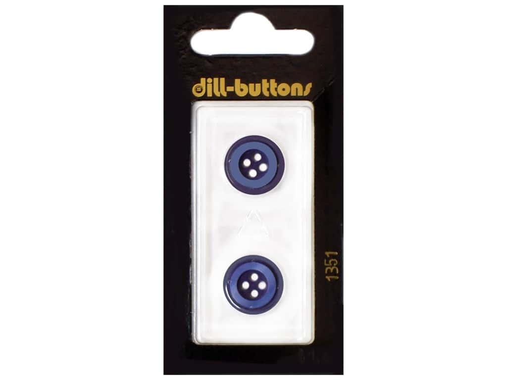 Dill 4 Hole Buttons 5/8 in. Navy #1351 2 pc.