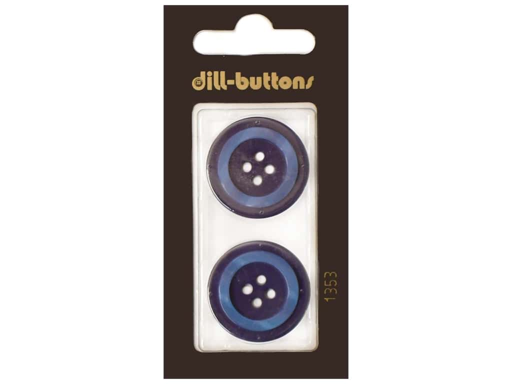 Dill 4 Hole Buttons 1 in. Navy #1353 2 pc.