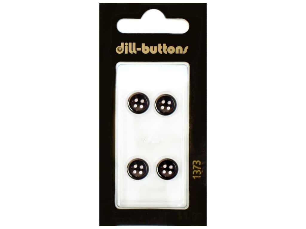 Dill 4 Hole Buttons 3/8 in. Navy #1372 4 pc.