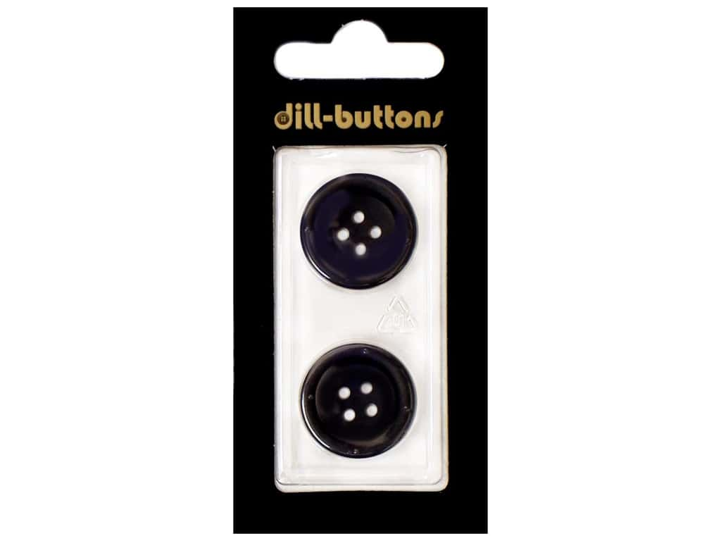 Dill 4 Hole Buttons13/16 in. Navy 2 pc.