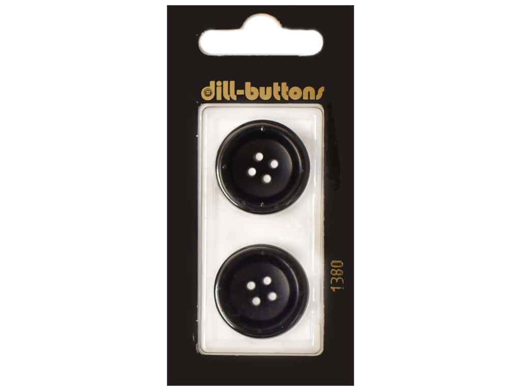 Dill 4 Hole Buttons 7/8 in. Navy #1380 2 pc.