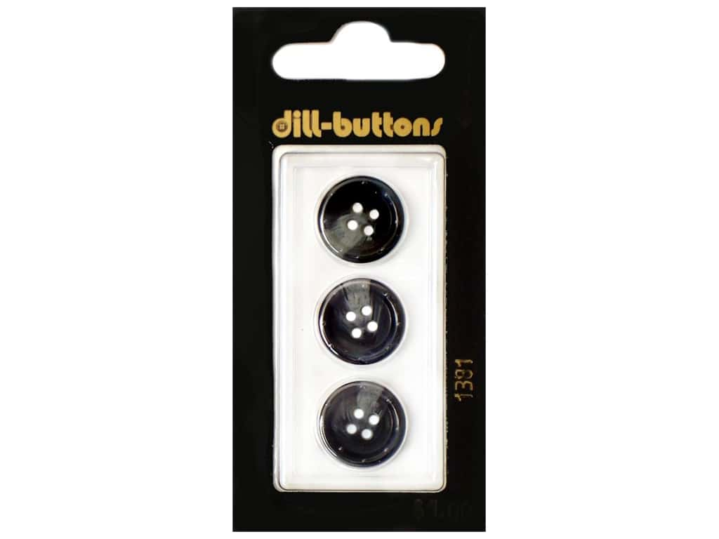 Dill 4 Hole Buttons 5/8 in. Navy #1381 3 pc.