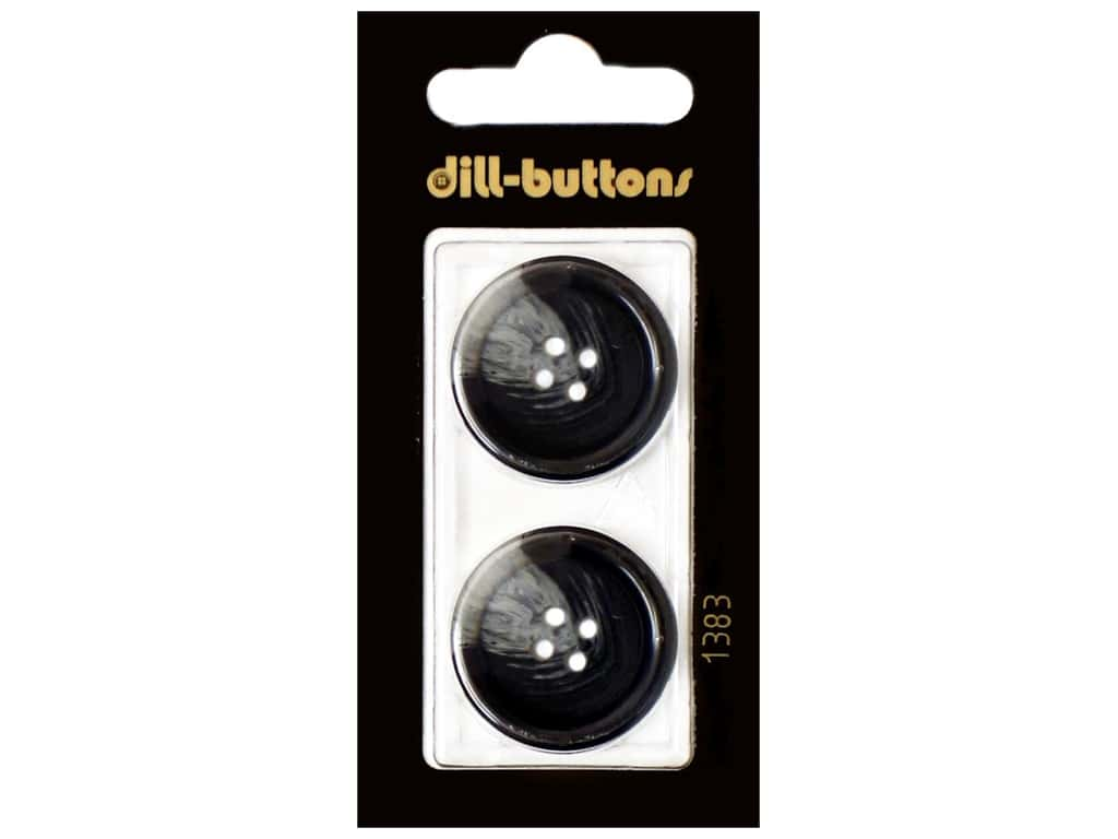 Dill 4 Hole Buttons 1 in. Navy #1383 2 pc.