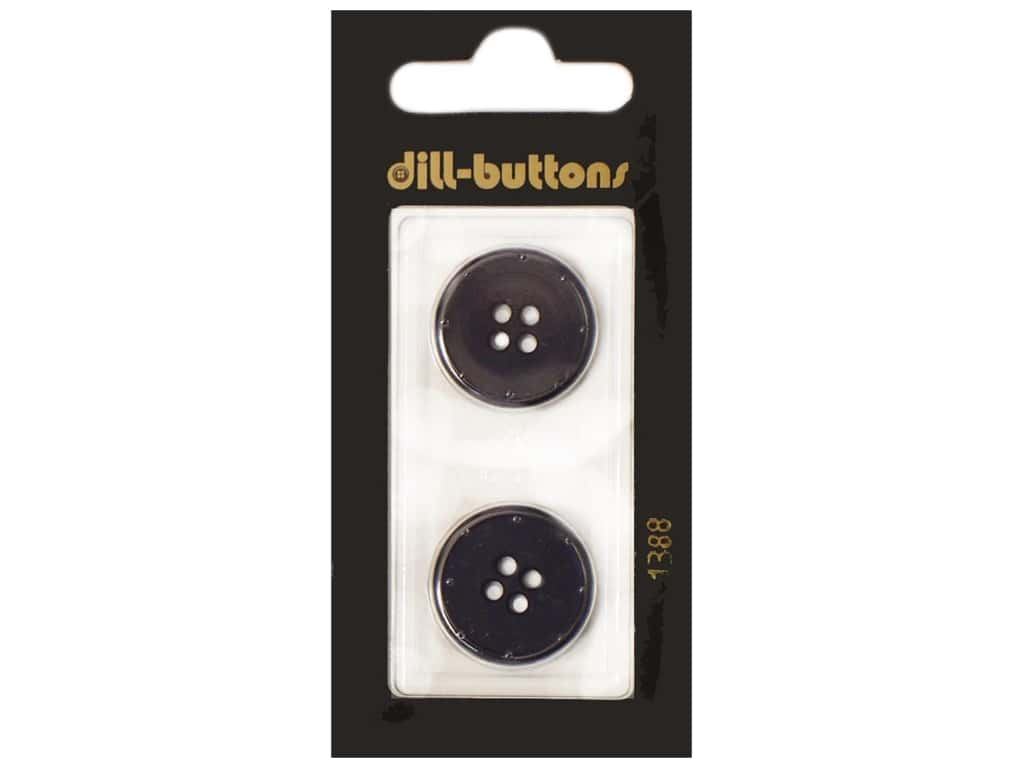 Dill 4 Hole Buttons 13/16 in. Navy #1388 2 pc.