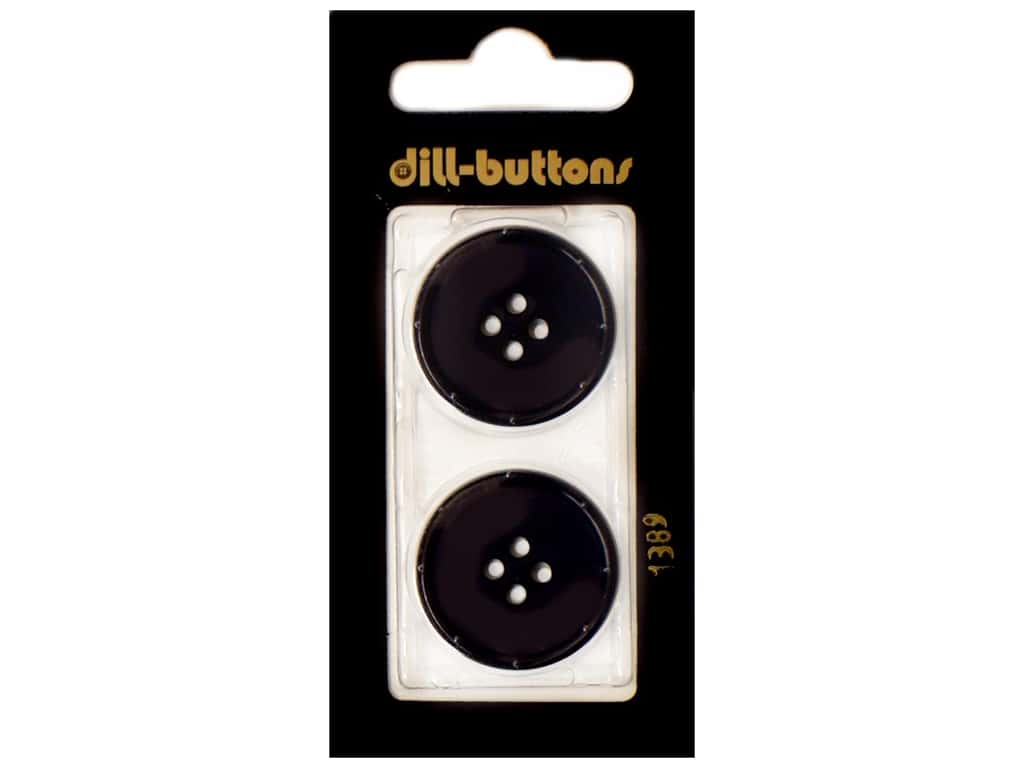 Dill 4 Hole Buttons 1 in. Navy #1389 2 pc.
