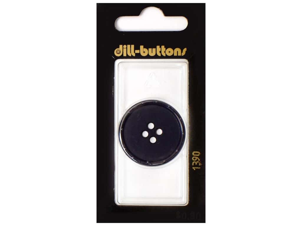 Dill 4 Hole Buttons 1 1/8 in. Navy #1390 1 pc.