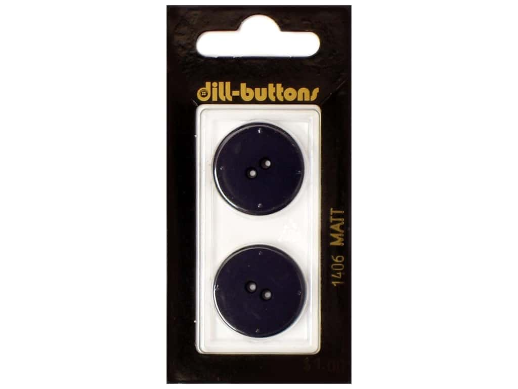 Dill 2 Hole Buttons 7/8 in. Navy #1406 2 pc.