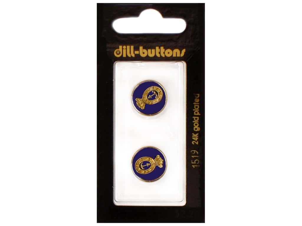 Dill Shank Buttons 5/8 in. Enamel Navy #1519 2 pc.