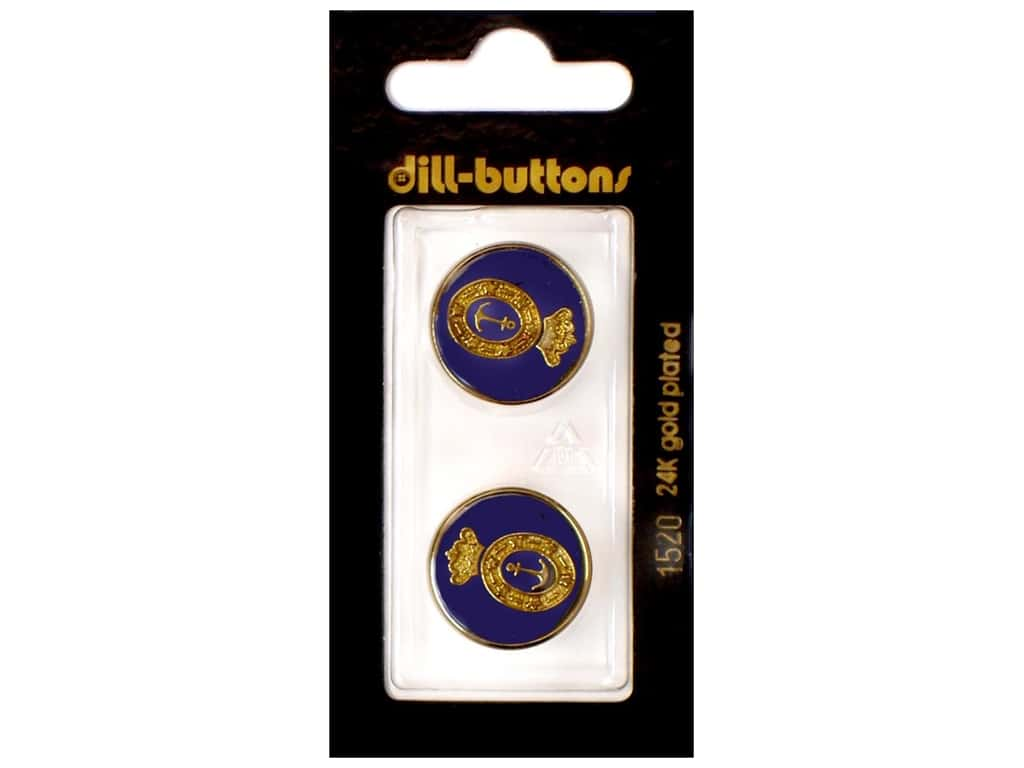 Dill Shank Buttons 13/16 in. Enamel Navy #1520 2 pc.