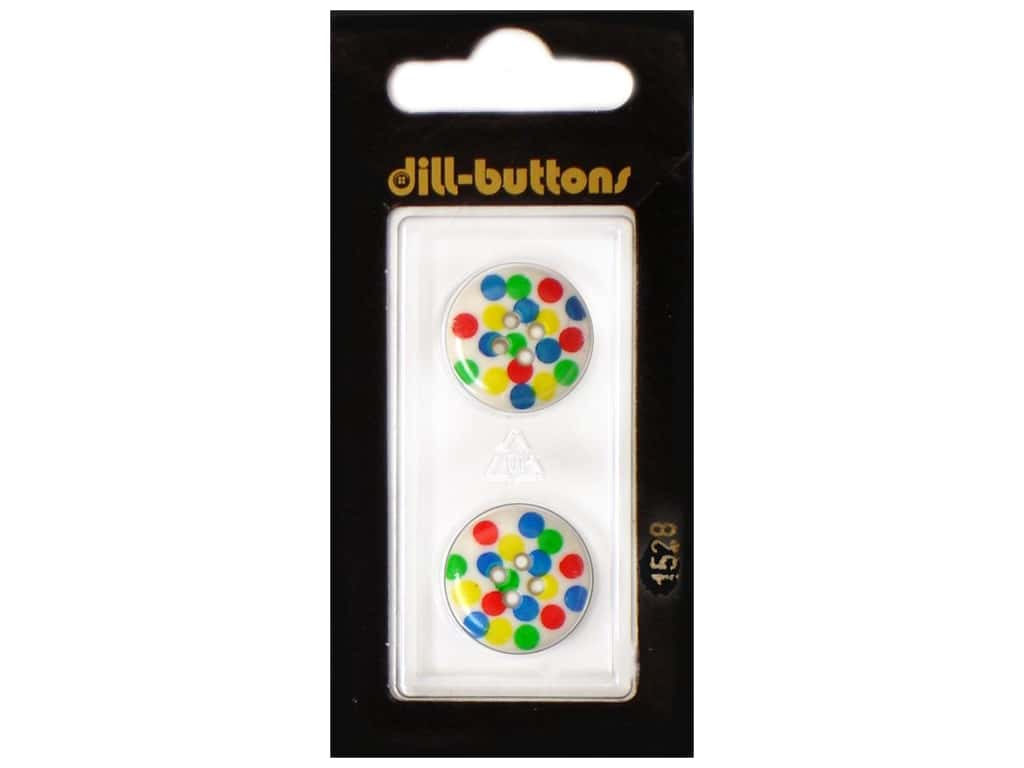 Dill 4 Hole Buttons 11/16 in. Polka-Dots #1528 2 pc.