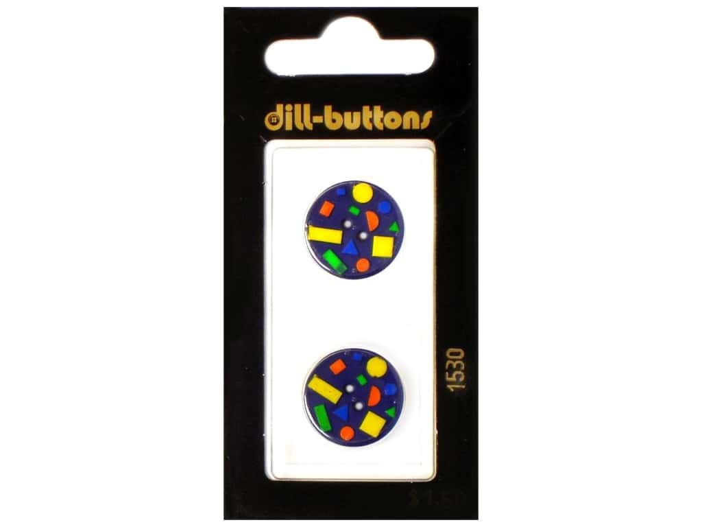 Dill 2 Hole Buttons 11/16 in. Confetti Navy #1530 2 pc.