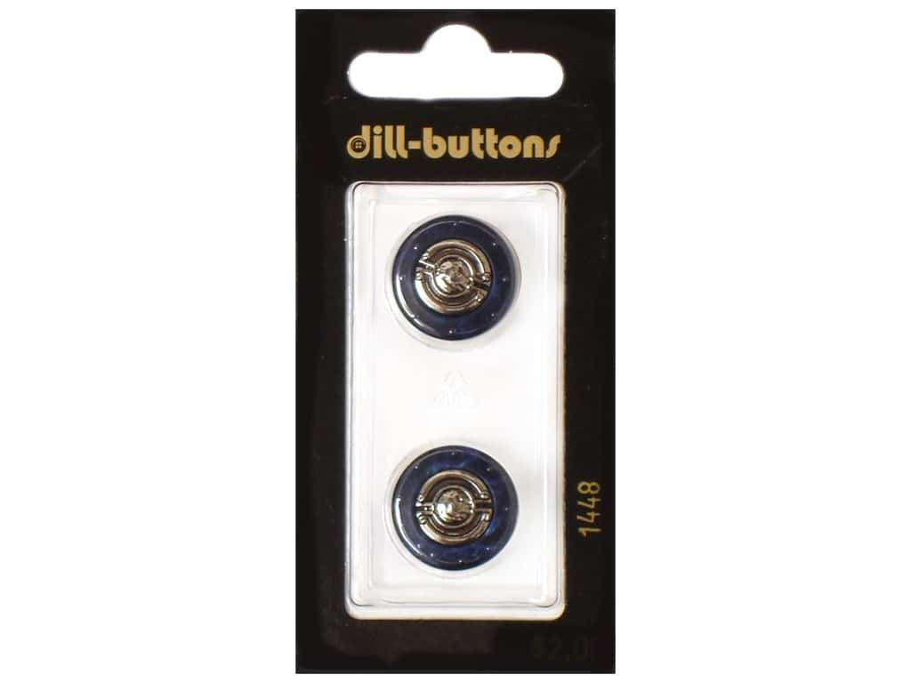 Dill Shank Buttons 11/16 in. Metal Navy #1448 2 pc.