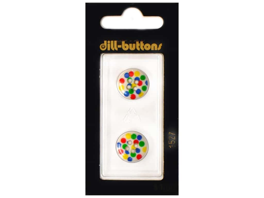 Dill 4 Hole Buttons 5/8 in. Polka-Dots #1527 2 pc.