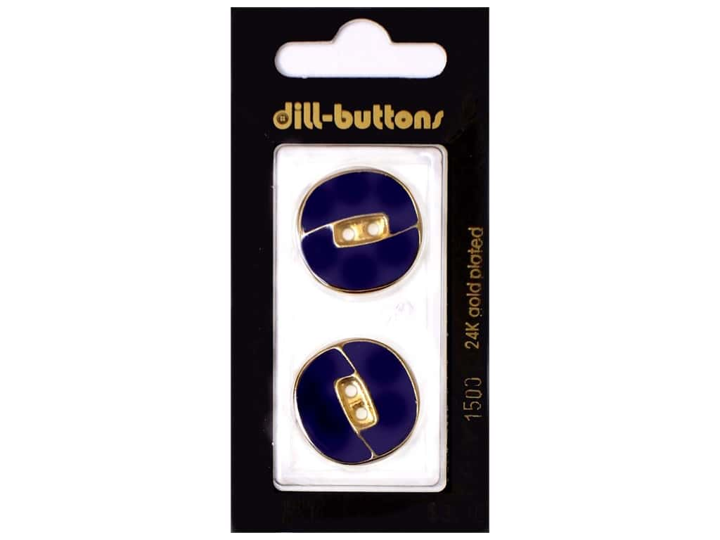 Dill 2 Hole Buttons 11/16 in. Enamel Navy #1500 2 pc.