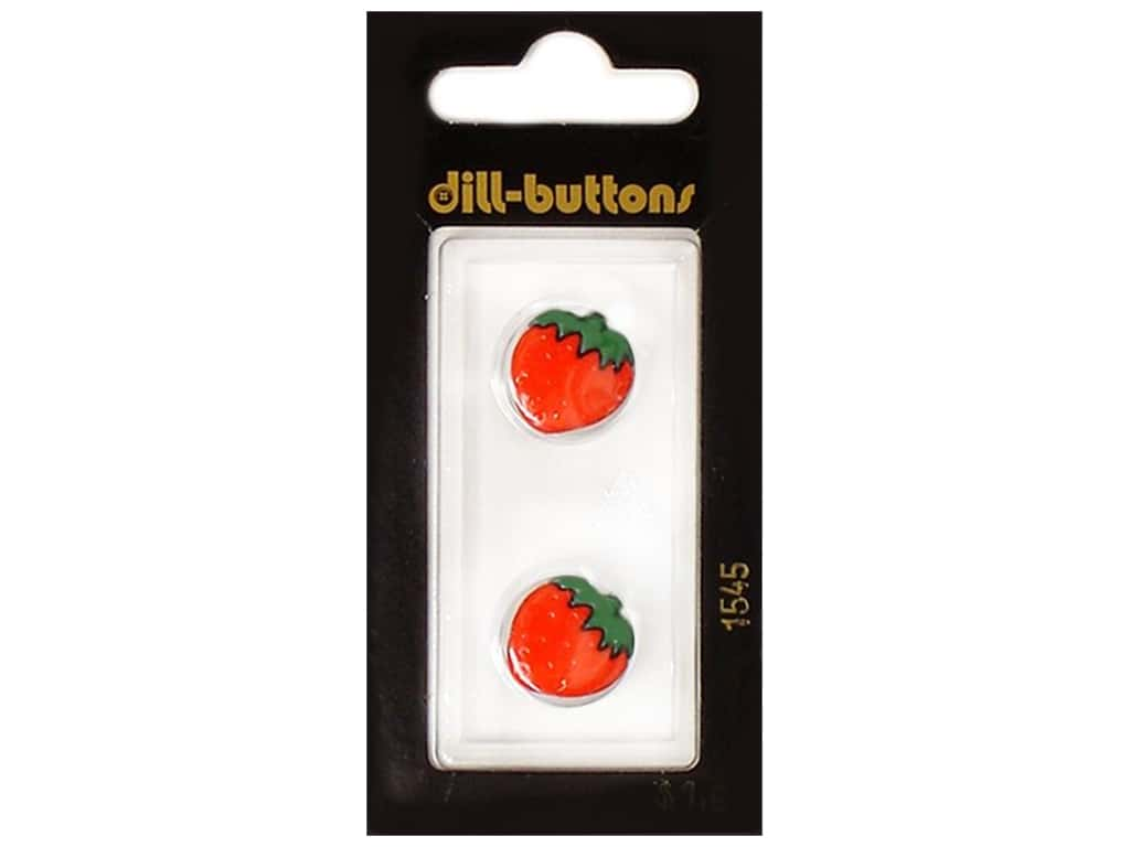 Dill Shank Buttons 5/8 in. Red Strawberry #1545 2 pc.