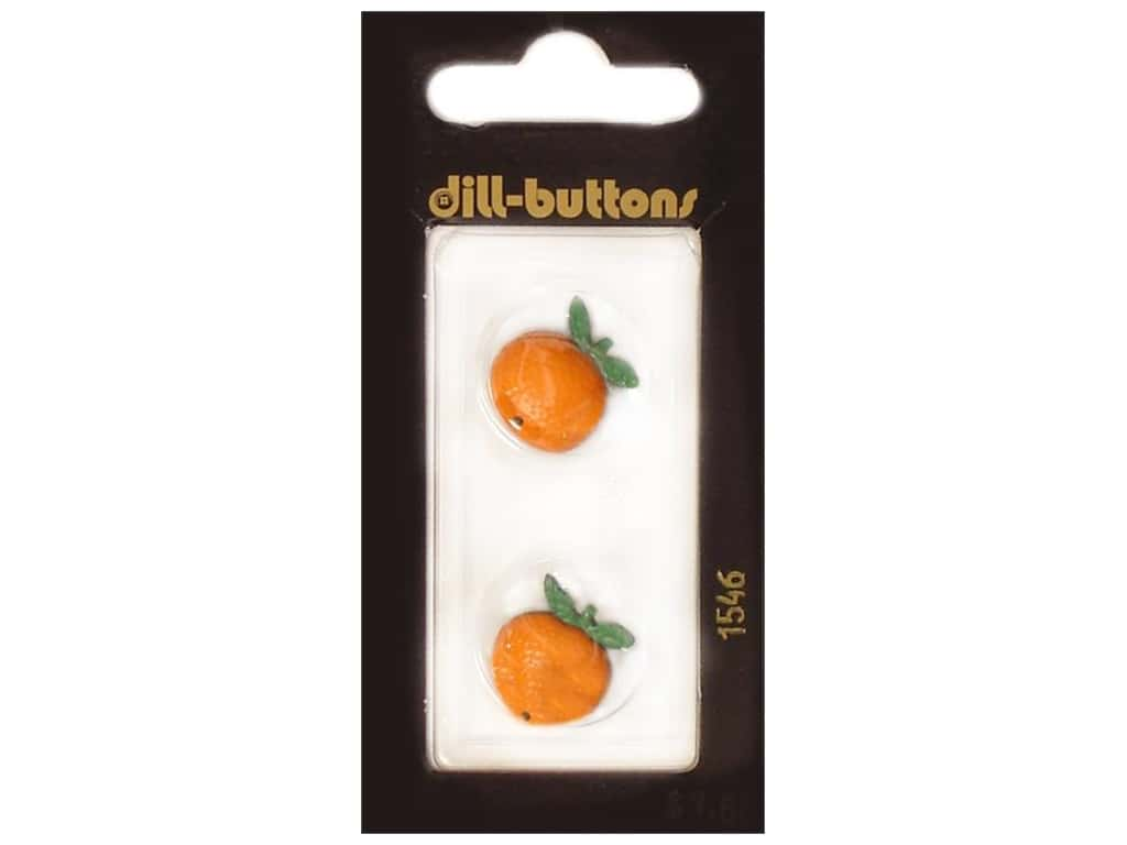 Dill Shank Buttons 11/16 in. Orange Fruit #1546 2 pc.